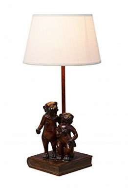 Bouledogues on Book Lamp
