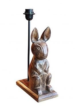 Sitting Wooden Rabbit Lamp