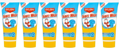6x Dylon Travel Camping Laundry Wash 75ml