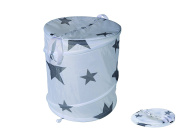 Laundry Basket/Laundry Bag, 42 cm x 35 cm Polyester, Hygenic, Washable and space-saving Folding, When It's Not Filled - Brand New