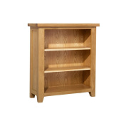 Cheshire Oak Low Bookcase with 2 Adjustable Shelves