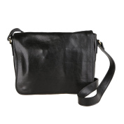 Chicca Borse Unisex Briefcase Organiser Shoulder Bag in Genuine Leather Made in Italy 32x28x8 Cm