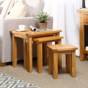 Cheshire Oak Nest of 3 Tables