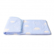 [70*100cm] Absorbent Waterproof Bed Pad Baby Crib Sheets, Blue Clouds