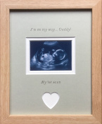 On My Way Daddy Baby First Scan Picture Frame 9 x 7