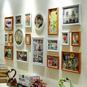 NAUY- set of 18 Composite Solid Wood Living Room Photo Wall Creative Frame Wall Wall Frame Combination Of European Photo Wall Frame