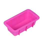 Silicone Muffin Cupcake Mould, Mumustar Bread Loaf Cake Mould Non Stick Bakeware Baking Pan Oven Rectangle Mould