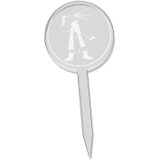 6 x 'Magical Wizard' Clear Cupcake Picks / Cake Toppers