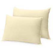 Ray Bedding 100% Egyptian Cotton 400 Thread Count Housewife Pillow Cases, Cream, Pack Of 2