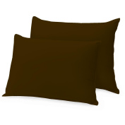 Ray Bedding 100% Egyptian Cotton 400 Thread Count Housewife Pillow Cases, Chocolate, Pack Of 2