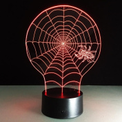 ZQQ 3D Visual LED Night Light Spider Web for Kids USB Illusion Optical Table Light as Besides Lamp , Touch and Remote