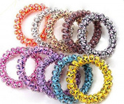 Lumanuby 10 X Phone Lines Hair Ring Head Rope Colours Random Suitable For All Hair Types