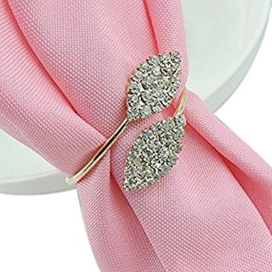 Napkin Rings Holder Crystal Table Decoration Set of 6