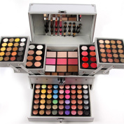JasCherry 162 Colours Mix Eyeshadow Concealer Lip Golss Pressed Powder and Powder Blush Makeup Palette Set Kit Professional Make Up Cosmetic Pallet For Daily Use