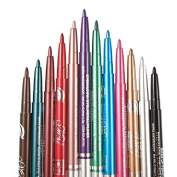 12 Colours/lot Eye Liner Glitter Eye Shadow Lip Eyeliner Pencil Pen Cosmetic Make Up Set Kit With Rotary Retractable