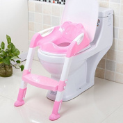 Portable and Durable Children Potty Seat With Ladder Kids Toilet Folding Potty Chair Training