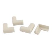 sourcingmap® Household Furniture Table Drawer Cabinet Corner Edge Protect Bumper Cushion 4 Pcs White
