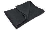 100% LINEN BATHROOM HAND Towel - made in Baltic region - BLACK with cheques - for hands, face - sauna, spa, gym use