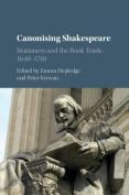 Canonising Shakespeare