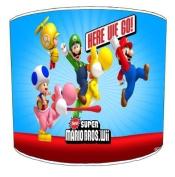 Premier Lampshades Ceiling Super Mario Wii Childrens Lampshades - 20cm