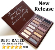 Best Pro Eyeshadow Palette Makeup - Matte + Shimmer 16 Colours - Highly Pigmented - Professional Nudes Warm Natural Bronze Neutral Smoky Cosmetic Eye Shadows - Lamora Au Naturel
