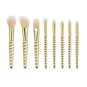 King Love Star Cheap 8 Pcs/set Makeup Brushes Honeycomb Gold Colour Handle Cosmetic Foundation Eyshadow Blush Powder Blending Brush beauty Tool kit Make Up Brush