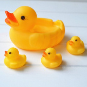 TFXWERWS Lovely Baby Bathing Toy Water Floating Rubber Race Bathing Duck