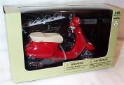 newray red primavera vespa 1.12 scale diecast model