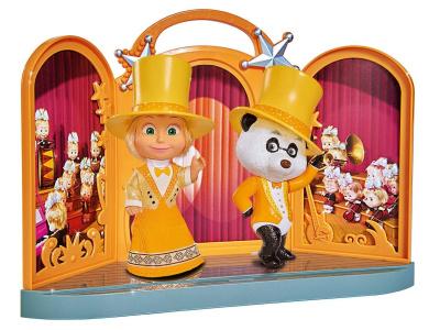 "Simba 277624550cm Masha and The Bear - Showtime with Panda"" Doll Set"