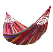 DZW Single Canvas Hammock Outdoor Camping Indoor Leisure Portable Adult Child