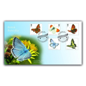 Buckingham Covers 2013 Butterflies Buckingham First Day Cover featuring Royal Mail stamps issued 11/7/13