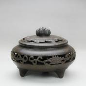 Purple Clay,Ceramic Incense Coil Furnace/Openwork Incense Burner/ Chen Furnace/Lotus Sandalwood Furnace