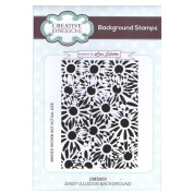 Creative Expressions Lisa Horton A6 Background Stamp - UMS803 Daisy Illusion Background