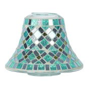 Aroma Accessories Mirror Mosaic Candle Jar shade 16 cm, Blue