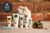 Bee Good Weekend Essentials - Cream Cleanser, Youth Enhancing Moisturiser, Serum, and Eye Cream, Lip Balm - Made From British Sourced Bee Ingredients - Potent Active Plant Oils and Skincare Technology