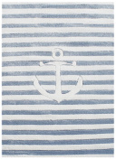 Children's Rug Happy Rugs in the High Sea 7 Blue/White 120 x 180 cm