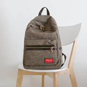 Canvas Simple High school schoolbag school Wind Leisure backpack Korean version shoulder bags, light brown