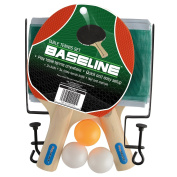 Toyrific TY5853 Baseline Table Tennis, Ping Pong Set with 2 Bats, 3 Balls, Posts and Net