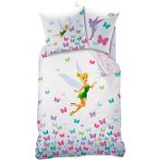 Disney Fairies - Tinker Bell - bed linen - 100% Cotton Duvet Cover 140 x 200 cm) + Pillowcase (63) - Fresh