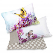 Double Bed Complete with Pillowcases Digital Print Nature 2P