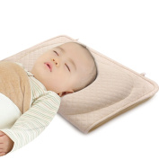 Baby Pillow for Newborn Prevent Flat Head Syndrome, Baby Memory Foam Head-Shaping Pillow for Infant with Organic Cotton Case