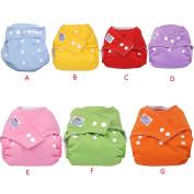 Fullfun 1Pcs Reusable Washable Adjustable Baby Soft Cotton Nappy Nappy