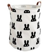 Toy Storage, Canvas Toy Organiser Bins, Large Foldable Nursery Closet Basket for Bedroom Nursery Baby Hamper by HeiYi