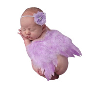2pcs Baby Headband Angel Feather Wing Costume Photo Props Outfit