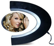 Photo Picture Frame,Zonman C Shape Magnetic Suspension Frame with LED Light Home Decorative