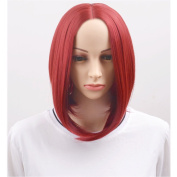 RightOn Short Straight Charming Bob Wig for Women Girls Lovely Synthetic Bob Wig with Wig Cap
