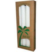 Aloha Bay, Palm Wax Taper Candles, Unscented, White, 4 Pack, 9 in (23 cm) Each - 2PC