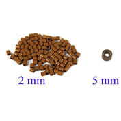 2 mm Auburn Brown Colour Small Copper Tubes Beads Links Locks Nano Micro Rings for I Tipped Human Hair Extensions