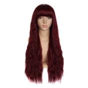 "MapofBeauty 28""/70cm Flat Bang Women's Wave Curly Fashion Wig"