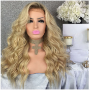 Human Hair Body Wave 100% Real Hair Curly Brazilian Glueless Cap Lace Front Wigs Full lace wig 130 Density Blonde Colour from Dream Beauty for women